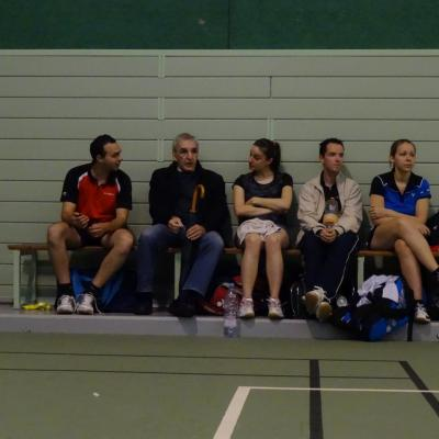 Le président (Jeff) et ses joueurs (Thomas, Alex, Tobias, Estelle)