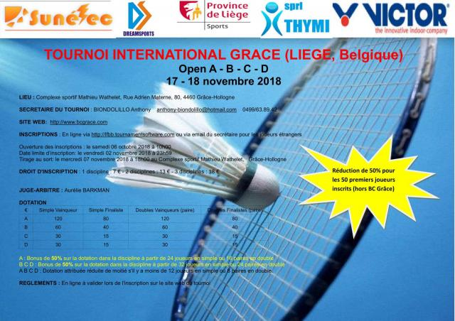 Invit tournoi international grace victor a b c d 2018 1